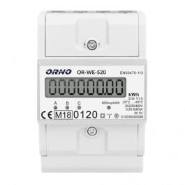 Compteur d'énergie triphasé certification MID avec afficheur et sortie impulsion - ORNO