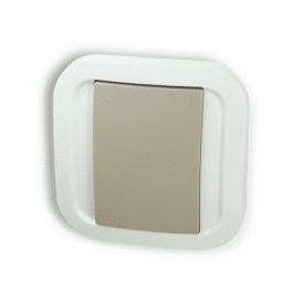 [RECONDITIONNÉ] Double interrupteur sans fil Z-Wave Plus - Gris Cozy - NodOn