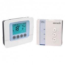 Pack thermostat électronique programmable + récepteur Z-Wave - SECURE