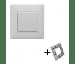 Interrupteur blanc 1 touche