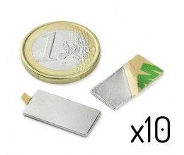 Kit de 10 petits aimants adhésifs rectangulaires