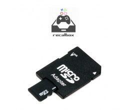 Carte Micro SD 32Go (adaptateur inclus) avec Recalbox Raspberry PI 3 pré-installé