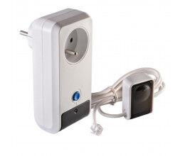 Face Avant - Prise télécommandée Smart Power Swich avec 2 récepteurs IR - Orno