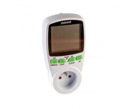 Prise avec mesure d'énergie, calculateur de coût de consommation - Orno