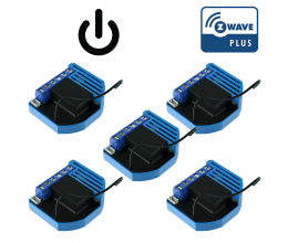 Pack de 5 modules encastrables 1 relai Z-Wave