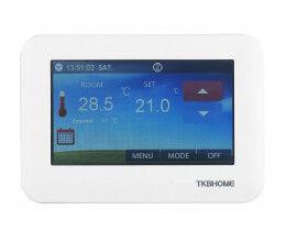 """Thermostat mural connecté Z-Wave avec écran LCD tactile 4.3""""  - TKB Home"""