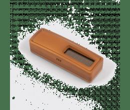 Sonde de température sans piles EnOcean bois foncé - Ubiwizz