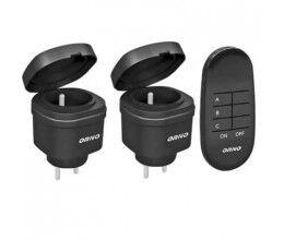 Pack de 2 mini prises avec télécommande sans fil - Orno